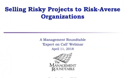 Selling Risky Projects to Risk Averse Organizations