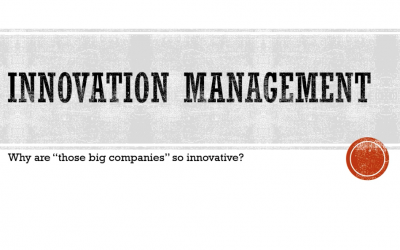 "Why are those ""big companies"" so much more innovative than we are?"